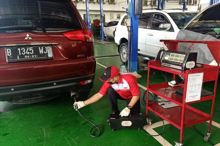 Layanan uji emisi gas buang Mitsubishi