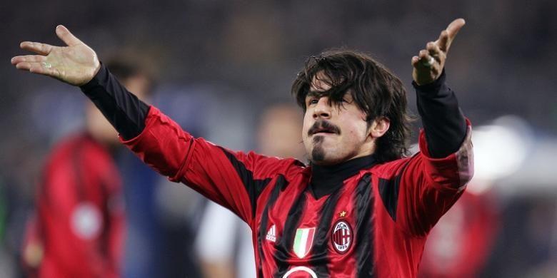Gennaro Gattuso saat masih memperkuat AC Milan.