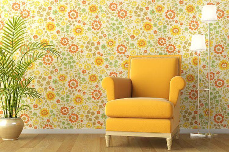 Desain wallpaper di rumah.