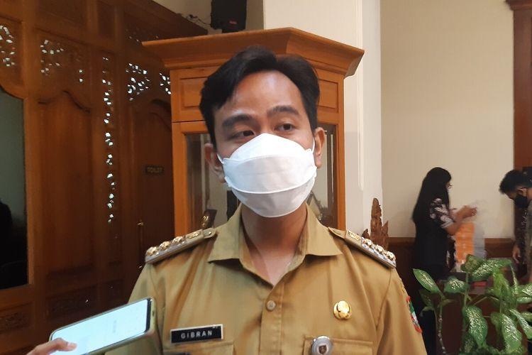 Wali Kota Solo Gibran Rakabuming Raka di Solo, Jawa Tengah, Rabu (14/4/2021).