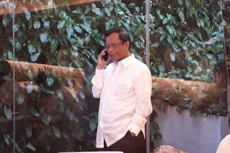 Mahfud MD saat ditemui di sebuah restoran di Menteng, Jakarta Pusat, Kamis (9/8/2018).