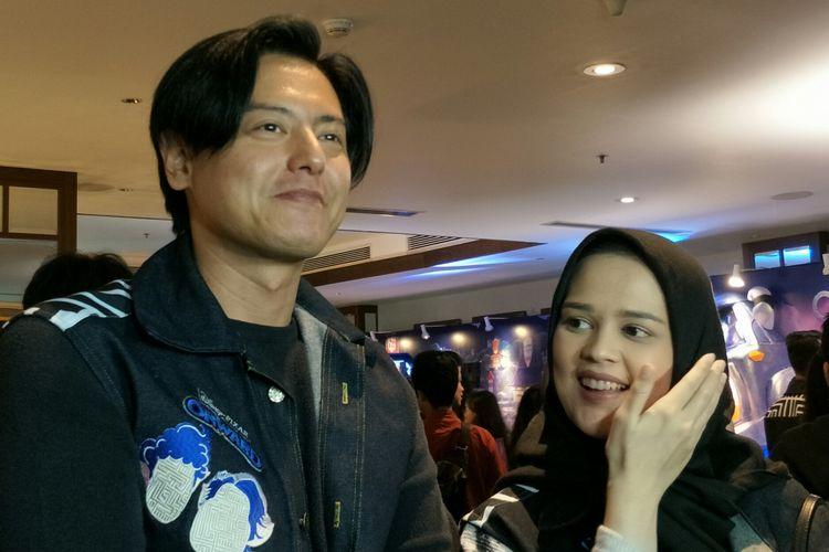 Roger Danuarta dan Cut Meyriska saat ditemui di XXI Senayan City, Jakarta Pusat, Kamis (27/2/2020)