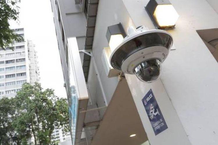 Kamera Pengawas milik Polisi Singapura (POLCAMs). (Channel News Asia)
