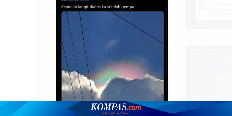 Viral Photos of Colored Sky Phenomenon After the Earthquake, This is a Scientific Explanation