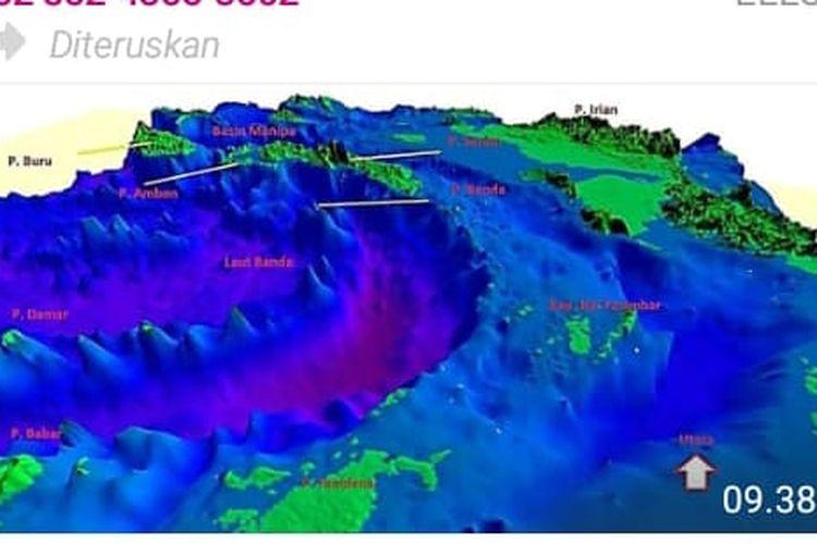 Kondisi perairan Maluku yang disebar bersama pesan hoaks.