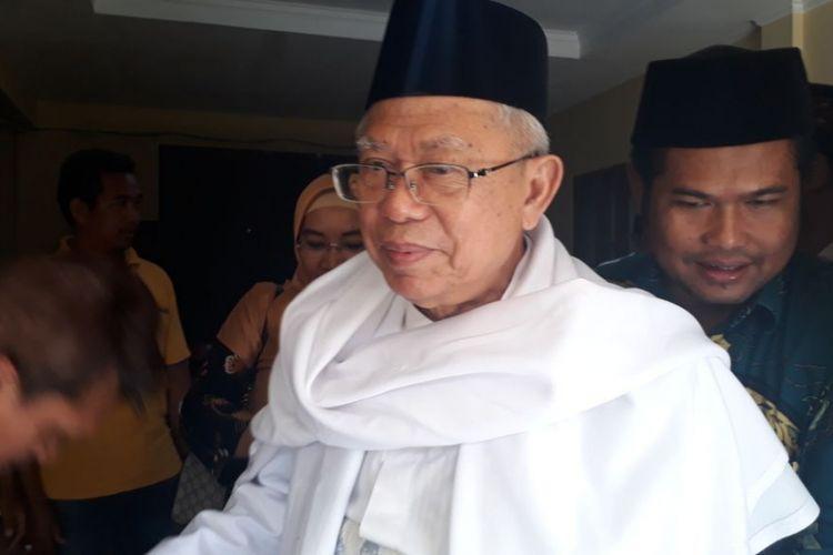 Ketua Umum Majelis Ulama Indonesia (MUI) dan Rois Aam PBNU KH Maruf Amin