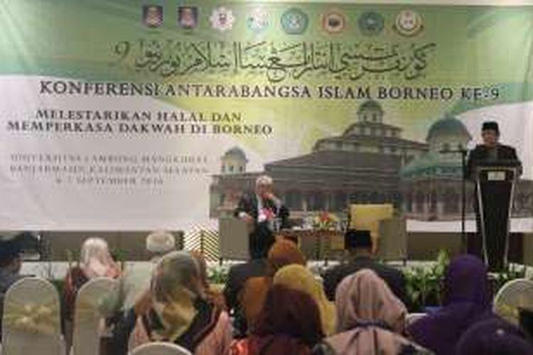 Sejumlah perguruan tinggi dari tiga negara di Pulau Borneo menggelar Konferensi AntaraBangsa Islam Borneo (KAIB) IX selama dua hari, 6-7 September di Hotel Rattan Inn, Banjarmasin, Kalimantan Selatan. Kegiatan ini diikuti sekitar 100 orang perwakilan dari tujuh perguruan tinggi di Indonesia, Malaysia, dan Brunei Darussalam.