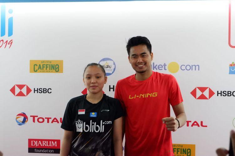 Pasangan ganda campuran Indonesia, Tontowi Ahmad/Winny Oktavina Kandow.