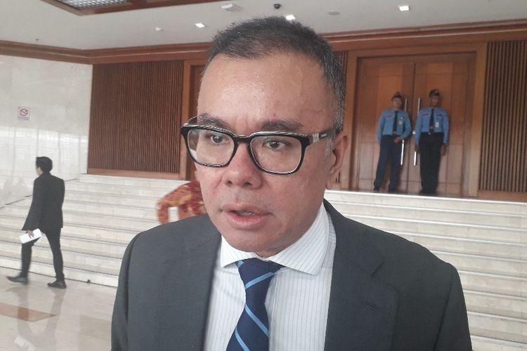 Wakil Ketua Umum PAN Bara Hasibuan di Gedung DPR, Selasa (9/7/2019).