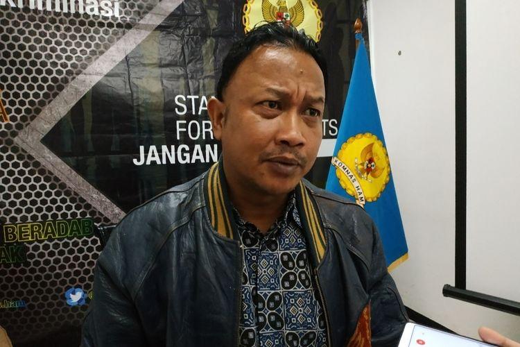 Komisioner Komnas HAM, Choirul Anam, di Kantor Komnas HAM, Jl. Latuharhary, Menteng, Jakarta Pusat, Senin (30/1/2020).