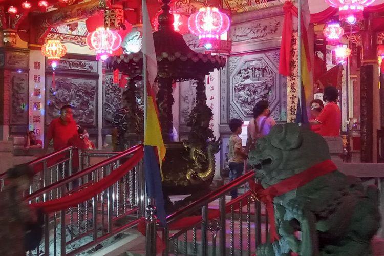 Suasana di kelenteng See Hin Kiong Padang, Kamis (11/2/2021).
