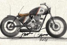 Sketsa Royal Enfield Meteor 350 Bobber dari Smoked Garage
