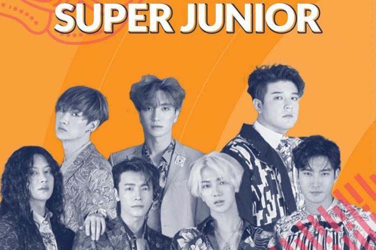Foto Super Junior yang diunggah di akun Instagram Asian Games 2018.