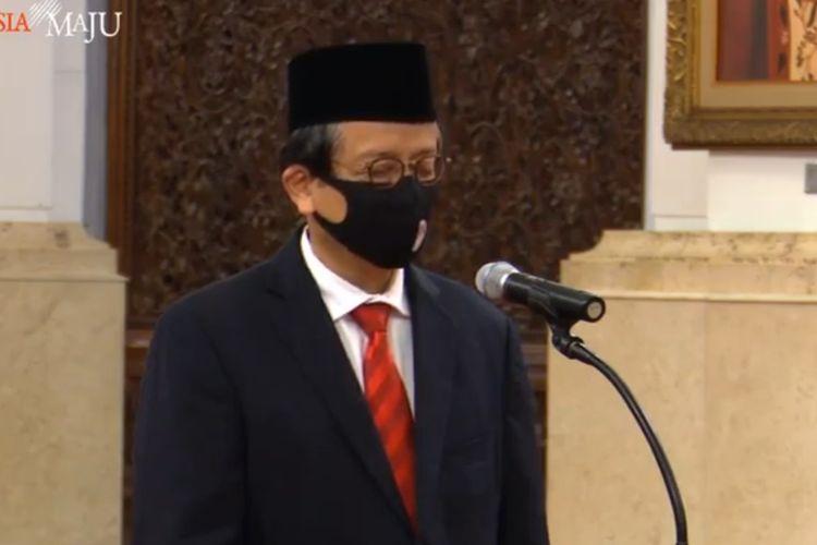 Presiden Joko Widodo melantik Dian Ediana Rae sebagai Kepala Pusat Pelaporan dan Analisis Transaksi Keuangan (PPATK) sisa masa jabatan 2020-2021, Rabu (6/4/2020).