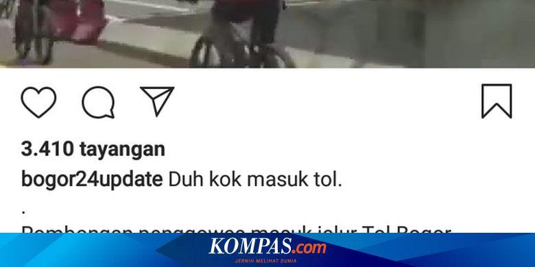 Ini Alasan 7 Pesepeda Masuk Jalan Tol Jagorawi Bogor