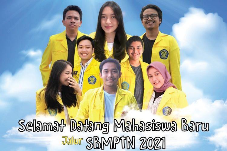 Poster resmi penyambutan mahasiswa baru jalur SBMPTN 2021 dari Universitas Indonesia menjadi topik pembicaraan di jagat maya hari ini, Selasa (15/6/2021), setelah diunggah kemarin sore.
