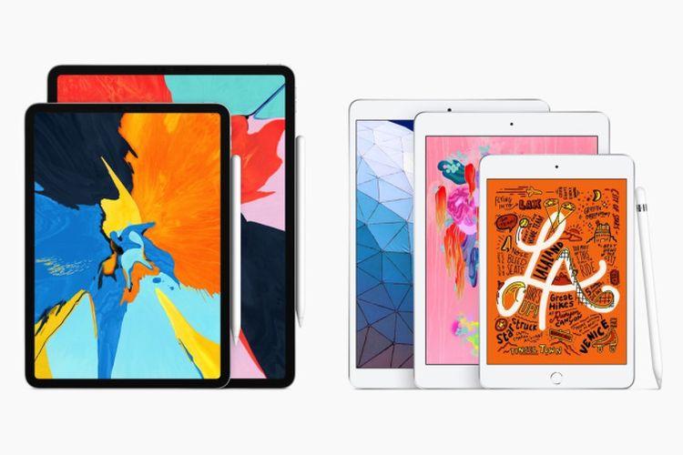 Ilustrasi iPad mini 5 dan iPad Air (2019)