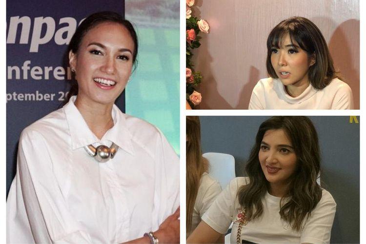 Nadine Chandrawinata, Gisella Anastasia, dan Ashanty