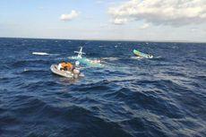 Perahu Nelayan Terbalik di Teluk Tomini Gorontalo, 4 Orang Berhasil Diselamatkan
