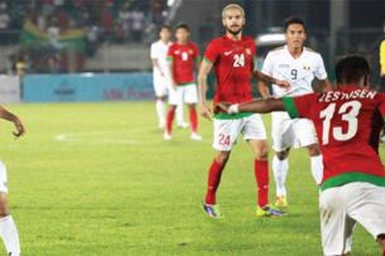 Indonesia singkirkan Myanmar di ajang sepakbola SEA Games XXVII/2013.