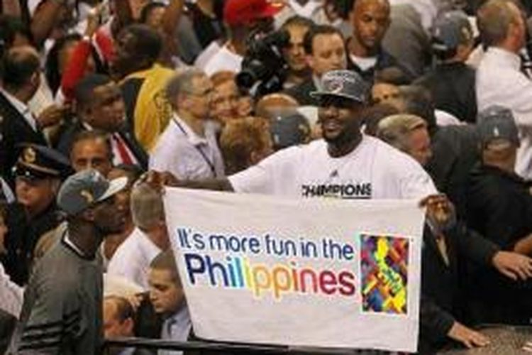 LeBron James di Filipina