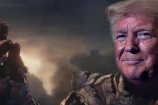 Tanggapi Isu Pemakzulan, Trump Digambarkan Tim Kampanye sebagai Thanos