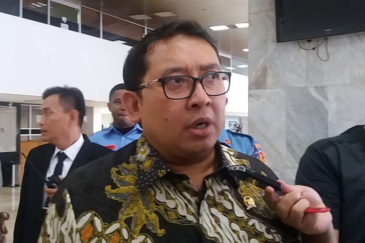 Wakil Ketua DPR RI Fadli Zon di Kompleks Parlemen, Senayan, Jakarta, Senin (8/1/2018).