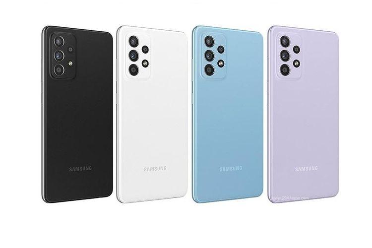 Empat varian warna Galaxy A52s yang terdiri dari Awesome Black, Awesome White, Awesome Violet dan Awesome Mint.