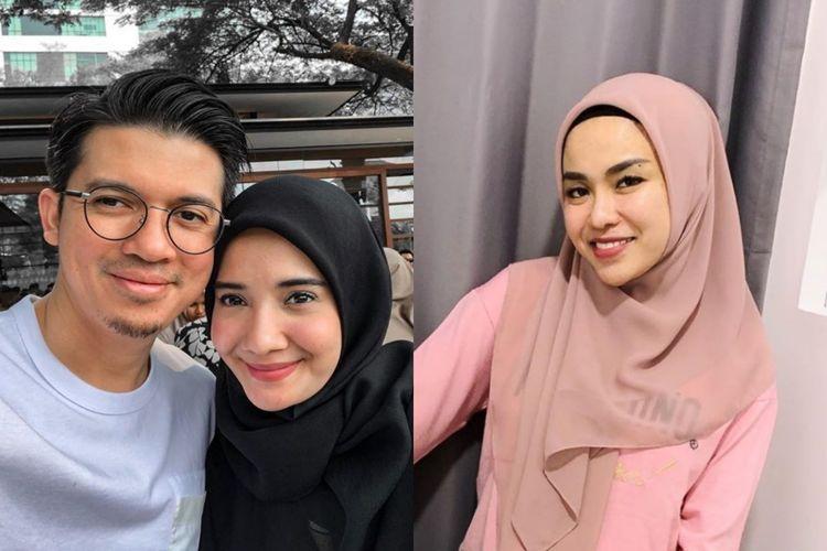 Irwansyah dan Zaskia Sungkar (kiri) dan Medina Zein (kanan).