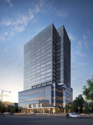 Inilah penampakan gedung baru Big Hit Entertainment yang dibangun di kawasan Yongsan, Seoul. Gedung ini akan menjadi rumah baru bagi BTS dan TXT.
