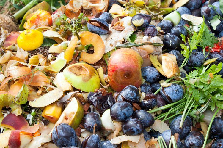 Ilustrasi sampah makanan, limbah makanan.