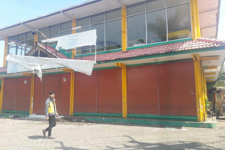Gedung Toserba yang jadi sengketa antara Kadin Kabupaten Garut dan SMKN 1 Garut, Rabu (10/06/2020)