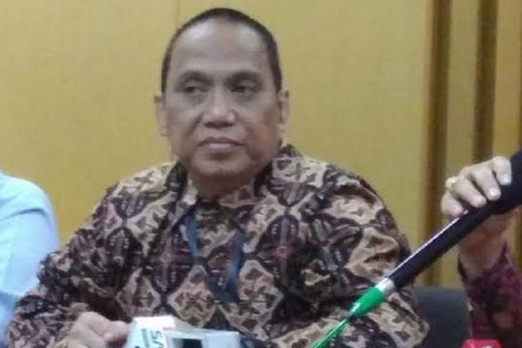 Indriyanto Seno Adji saat masih menjabat pimpinan sementara Komisi Pemberantasan Korupsi.