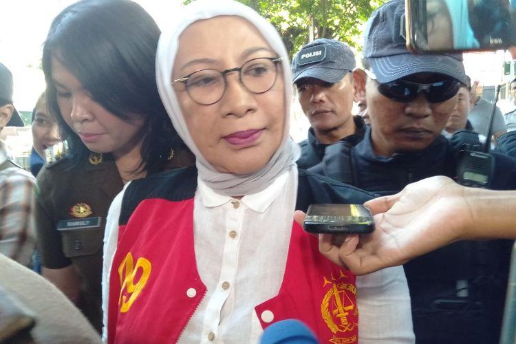 Ratna Sarumpaet tiba di Pengadilan Negeri Jakarta Selatan untuk menjalani sidang pledoi, Selasa (18/6/2019).