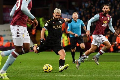 Hasil Aston Villa vs Man City, Malam Bersejarah Sergio Aguero