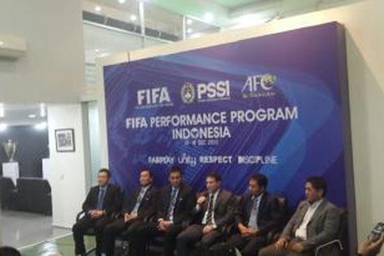 Perwakilan FIFA dan AFC yang hadir di Indonesia untuk membahas program