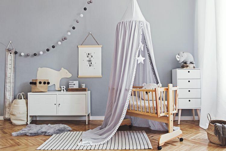 Ilustrasi kamar bayi.