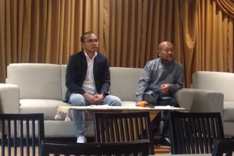 Kuasa hukum PT Buana Permata Hijau Damianus Renjaan(kiri) dalam konferensi pers di Cikini, Jakarta Pusat, Jumat (17/5/2019).