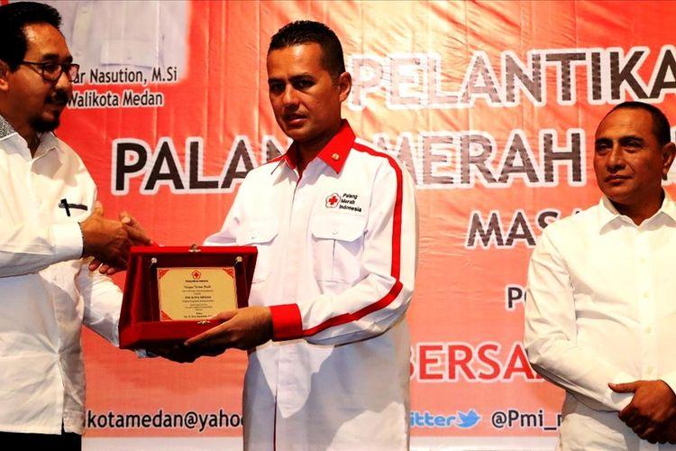 Wakil Gubernur Sumut Musa Rajekshah dilantik menjadi Ketua PMI Kota Medan, Senin (5/8/2019)