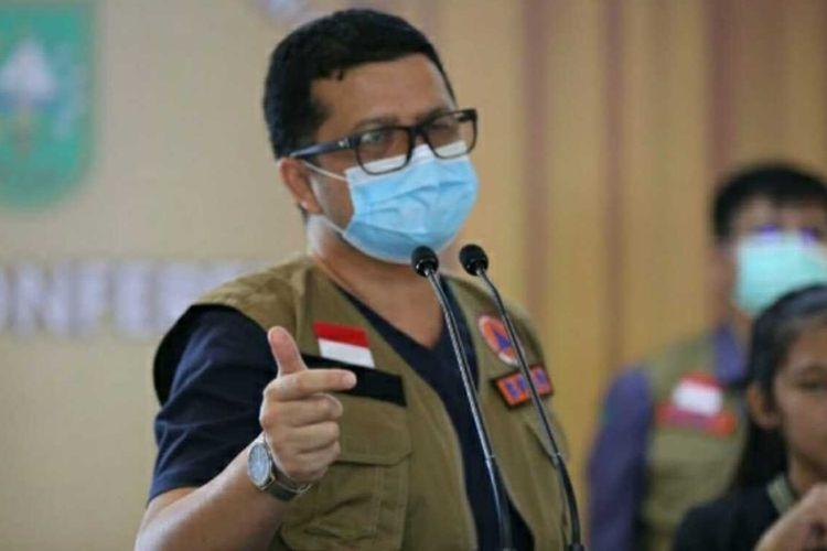 Juru bicara (Jubir) Satuan tugas (Satgas) Penanganan Covid-19 Provinsi Riau dr Indra Yovi.