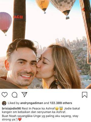 Tangkapan layar dari Instagram Brisia Jodie @brisiajodie96, Selasa (18/2/2020).