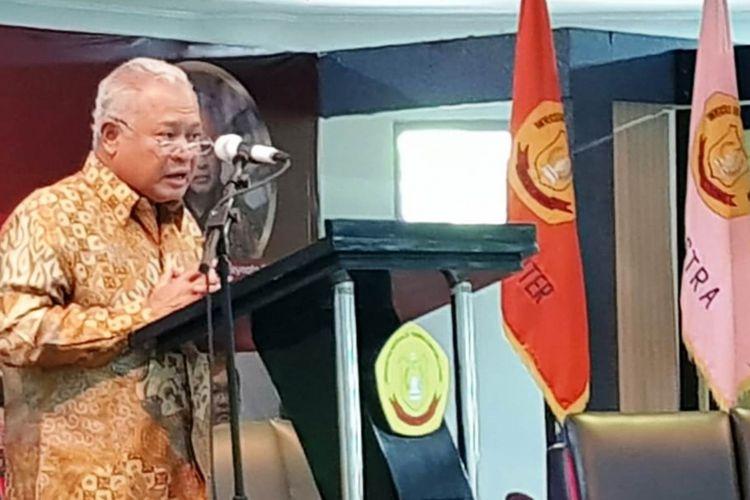 Mantan menteri ESDM Purnomo Yusgiantoro mengatakan, pembangunan PLTN harus mempertimbangkan banyak aspek, Rabu (26/9/2018)