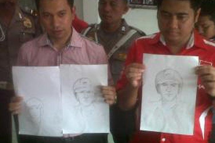 Tiga sketsa wajah pelaku perampokan toko emas di Medan disebar polisi