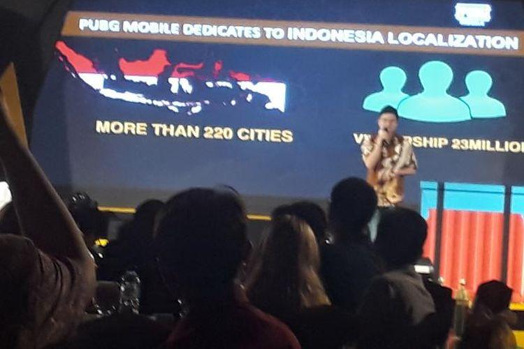 Oliver Ye menjelaskan, PUBG Mobile memiliki lebih dari 100 Juta pengguna aktif tiap bulannya di seluruh dunia.