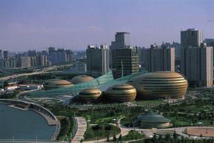 Zhengdong New District, salah satu portofolio yang dikembangkan China Merchant Property Development.
