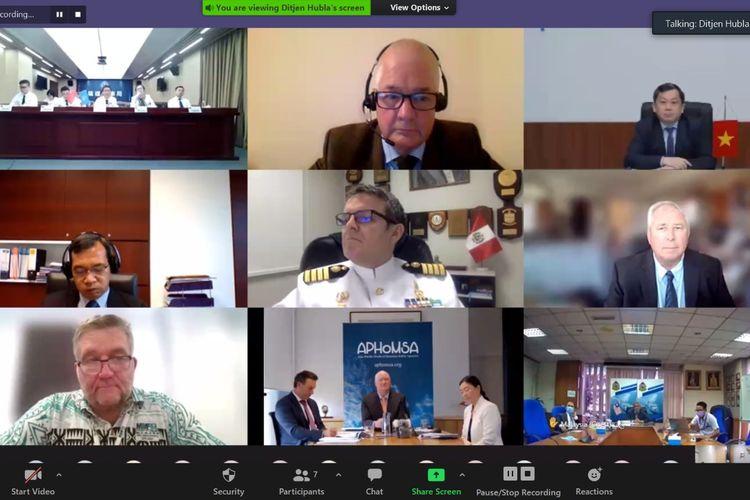 Pertemuan Asia Pacific Heads of Maritime Safety Agencies (APHoMSA) ke-21 digelar secara virtual.