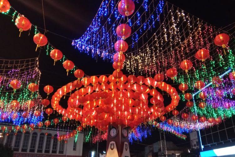 Lampion Pasar Gede dalam Rangka Solo Imlek Festival 2020. (15/01/2020)