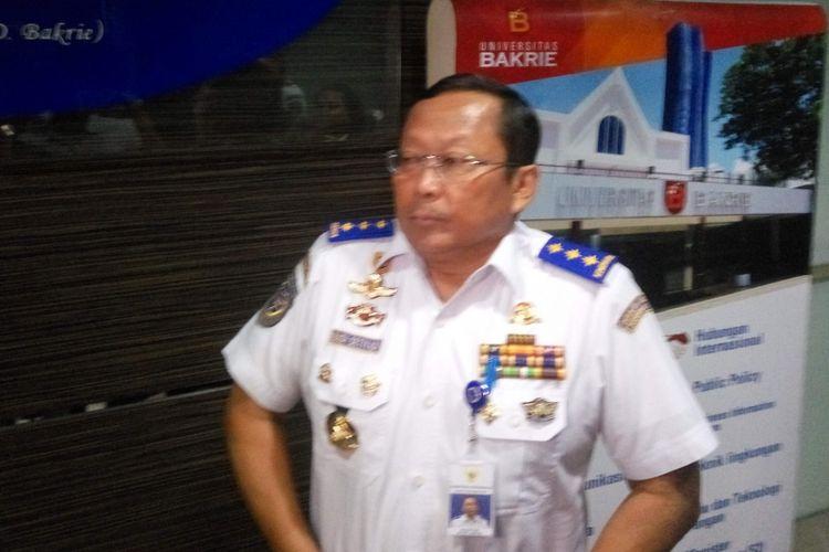 Dirjen Perhubungan Darat Kementerian Perhubungan Budi Setiyadi di Jakarta, Kamis (10/1/2019).