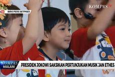 Senyum Jokowi Saat Saksikan Cucunya, Jan Ethes, Tampil di Pentas Musik