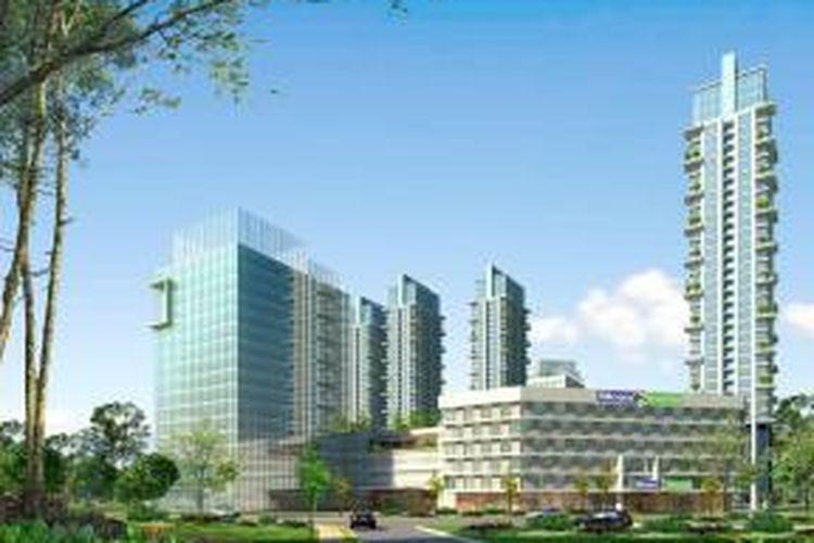 Grand Kemayoran menempati Blok C7-C9 sebagai area Menara Kemayoran, Jakarta Pusat.